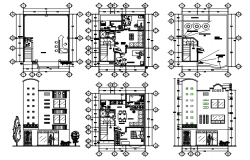 House drawing 6.50mtr x 8.00mtr with detail dimension in dwg file