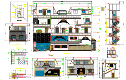 House drawing dwg file