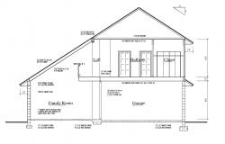 House drawing with detail dimension in AutoCAD