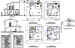 House electric plan detail dwg file