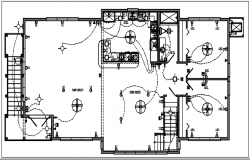 House electric plan layout and design plan layout view detail dwg file,