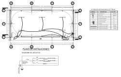 House electrical plan detail dwg file