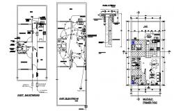 House floor plan and electrical layout plan cad drawing details dwg file