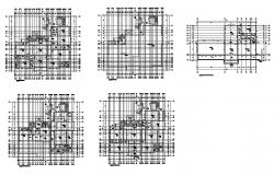 House floor plan and framing plan cad drawing details dwg file