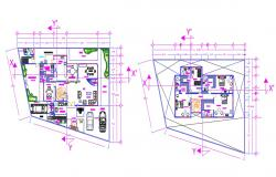 House floor plan with furniture