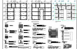House foundation plan and section detail dwg file