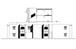 House front elevation model CAD drawing