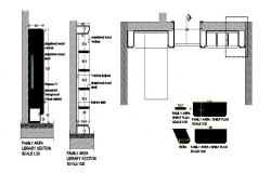 House furniture and interior section and plan cad drawing details dwg file