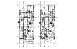 House ground and first floor plan and electrical layout plan details dwg file