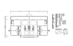 House ground floor plan and framing plan details dwg file