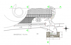 House in tortugas ground floor detail autocad file