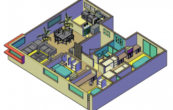House interior 3 d plan dwg file