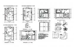 House interior-ceiling, staircase, tile, shelves etc cad drawing details dwg file