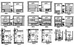 House kitchen elevation, section, plan and auto-cad details dwg file