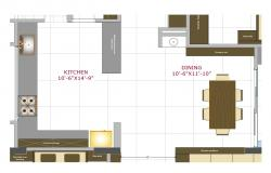 House kitchen layout plan cad drawing details pdf file