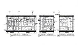 House kitchen sectional cad drawing details dwg file