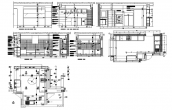 House kitchen structure CAD blocks detail layout elevation and plan dwg file