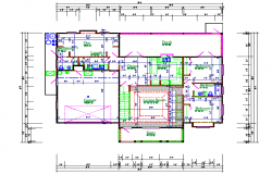 House lay-out planing design in cad File