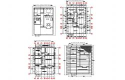 House layout plan, electrical layout plan, cover plan and auto-cad details dwg file
