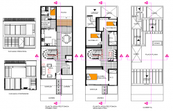 House layout plan and elevation design dwg file