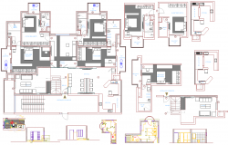 House layout plan detail view dwg file