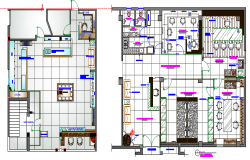 House layout plan with furniture details dwg file