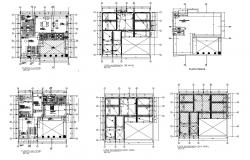 House plan 17.13mtr x 17.00mtr with detail dimension in dwg file