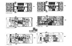 House plan 17.43mtr x 13.15mtr with furniture details in dwg file
