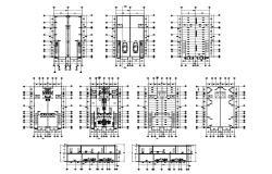 Condo plan designs in AutoCAD file