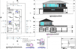 House plan and elevation detail dwg file
