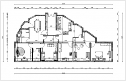House plan building design view dwg file