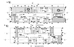 House plan detail dwg file,