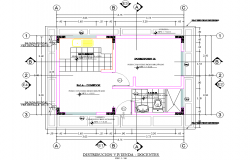 House plan detail dwg file