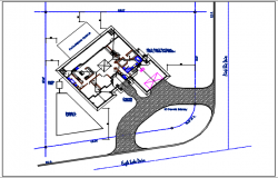 House plan detail with dimension and tank detail dwg file