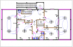 House plan layout and electric plan layout view detail dwg file