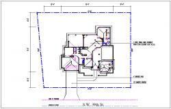 House plan layout detail dwg file
