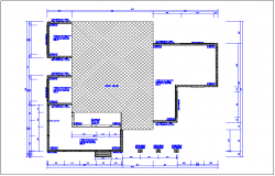House plan layout detail information dwg file