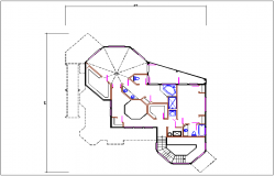 House plan layout dwg file