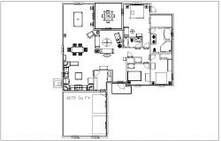 House plan layout view detail dwg file