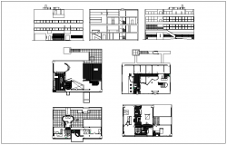 House plan section and elevation view dwg file