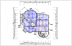 House plan view and projection of floor plan view detail dwg file