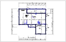 House plan view detail dwg file