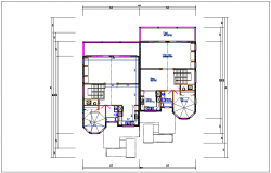 House plan view detail dwg file