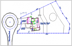 House plan view detail with dimension plan layout dwg file