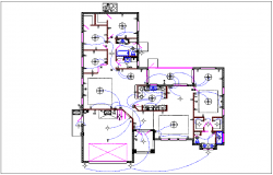 House plan view detail with electric plan layout dwg file