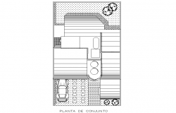 House planing detail dwg file