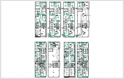 House planning and design layout  with electrical layout dwg file