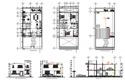 House plans room detail dwg file