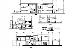 House room elevation and section plan layout file