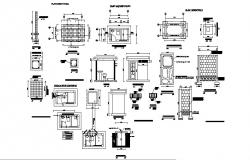 House sanitary installation and structure details dwg file